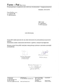 List referencyjny Formpat