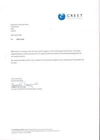 List referencyjny Crest